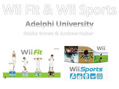Wii Fit lets your physically in cooperate yourself within the games to make you feel as if your actually getting involved in a physical activity. For.