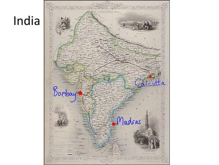India. The British were competing with other European nations for influence in India………