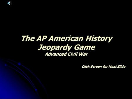 ap united states history civil war essays Ap us history is a serious course and includes many course goals united states history the civil war.