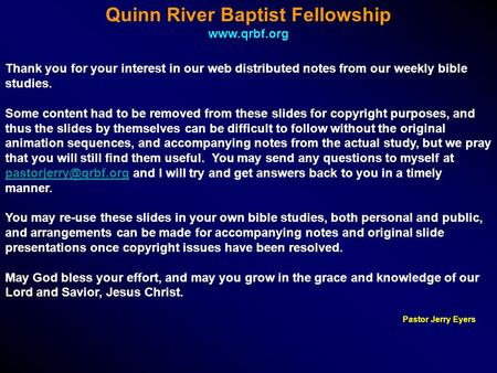 Quinn River Baptist Fellowship