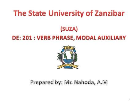 The State University of Zanzibar