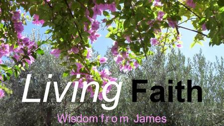 Living Faith Wisdom from James. Living Faith Wisdom from James James 5: 13-20.