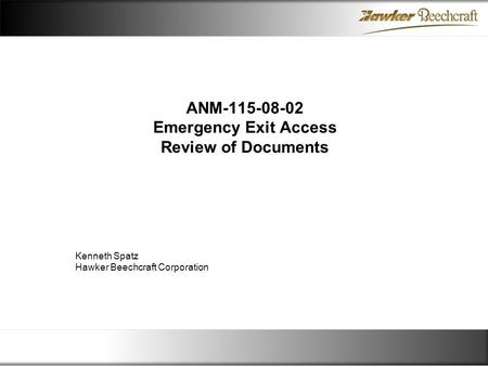 ANM Emergency Exit Access Review of Documents
