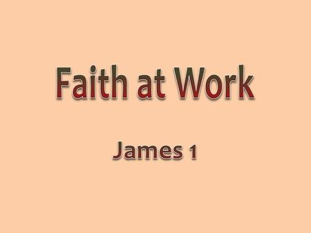 2 Faith must work; faith must produce; faith must be visible Verbal faith is not enough, Lk 6:46 Mental faith is insufficient, Jno 12:42-43 True faith.