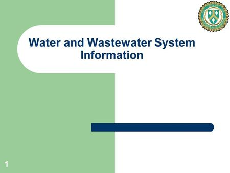 1 Water and Wastewater System Information. 2 PWCSA Water Purchase Key Points From April 21, 2008 Meeting With PWCSA PWCSA is willing to re-open discussions.