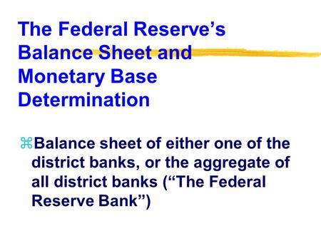 the role of the federal reserve in control of money supply The federal reserve federal reserve(fed influence the supply of money and credit in order to foster price stability and.