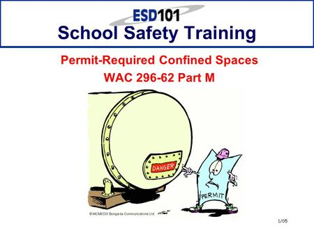 1/05 School Safety Training Permit-Required Confined Spaces WAC 296-62 Part M.
