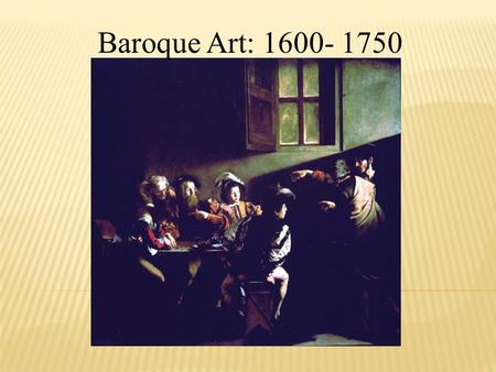 About the Baroque Period