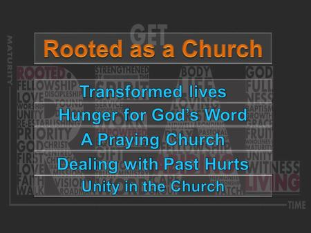 …putting it together Becoming more Fruitful Growing Deeper in Christ Awareness Conviction Commitment.