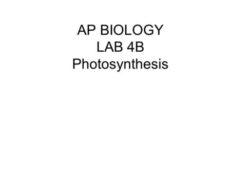 ap biology essay dpip Name: _____ ap biology – lab 08 page 3 of 4 questions: 1 what is the function of dpip in this.