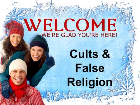 "Cults & False Religion. AMOS 8:11-12 ""The days are coming,"" declares the Sovereign LORD, ""when I will send a famine through the land— not a famine of."