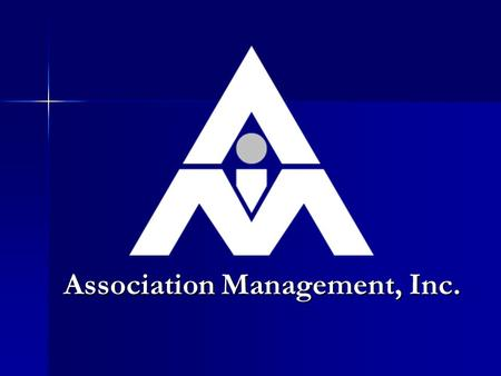 <strong>Association</strong> Management, Inc.. AMI College <strong>of</strong> Community <strong>Association</strong> Management Course 103 Rules Enforcement.