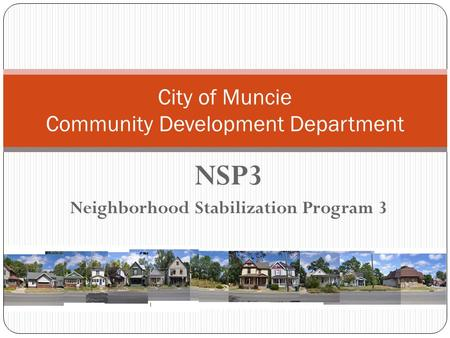 City of Muncie Community Development Department