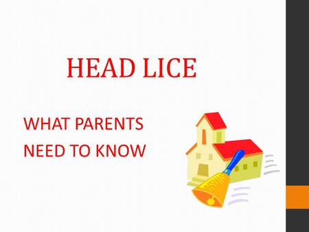 HEAD LICE WHAT PARENTS NEED TO KNOW. According to the Centers for Disease Control (CDC) They Do Not Cause Disease. They are Just a Nuisance! HEAD LICE.
