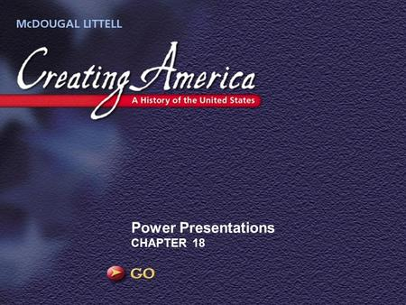 Power Presentations CHAPTER 18. Image Democratic Ideals The Civil War has just ended, and the Southern states are back in the Union. But the Southern.