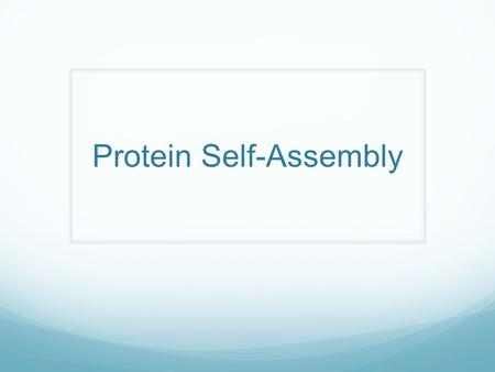 Protein Self-Assembly. Disease Review Muscular Dystrophy Genetic disorder A protein to protect muscle is not created properly Causes muscles to weaken.