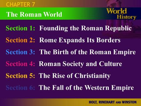 Section 1: Founding the Roman Republic