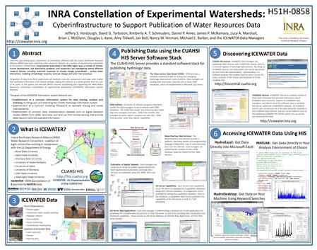 This work is funded by the Inland Northwest Research Alliance INRA Constellation of Experimental Watersheds: Cyberinfrastructure to Support Publication.