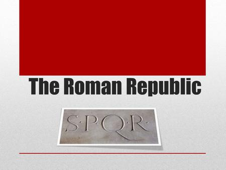 The Roman Republic. What do you see? Rome's Government Rome had a tripartite. -One group ran the government. -Another group made the laws. -The last.