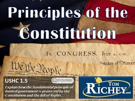 USHC 1.5 Explain how the fundamental principle of limited government is protected by the Constitution and the Bill of Rights…