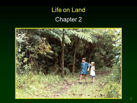 1 Life on Land Chapter 2. 2 Terrestrial Biomes Biomes are distinguished primarily by their predominant plants and are associated with particular climates.