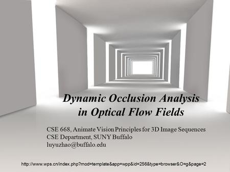 Dynamic Occlusion Analysis in Optical Flow Fields
