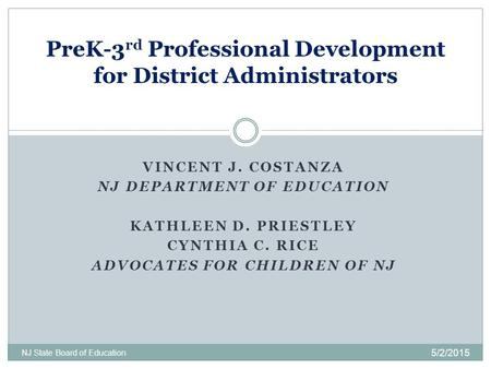PreK-3rd Professional Development for District Administrators