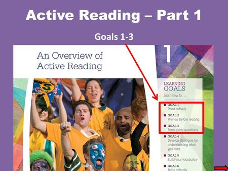 Active Reading – Part 1 Goals 1-3. Reading Goals Alternative Scheduling Plans (Flextime) In alternative scheduling plans or flextime, management defines.