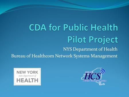 NYS Department of Health Bureau of Healthcom Network Systems Management.