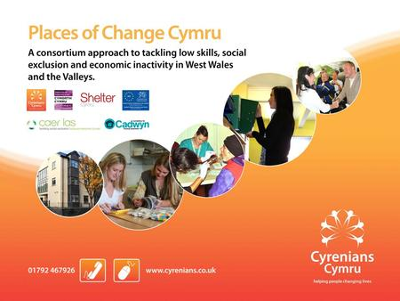Background Cyrenians Specialist homelessness provider with over 10 years experience of delivering ESF projects. Convergence– Cyrenians Supported Employment.