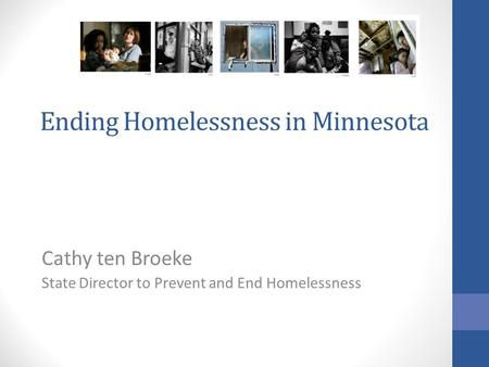 Ending Homelessness in Minnesota