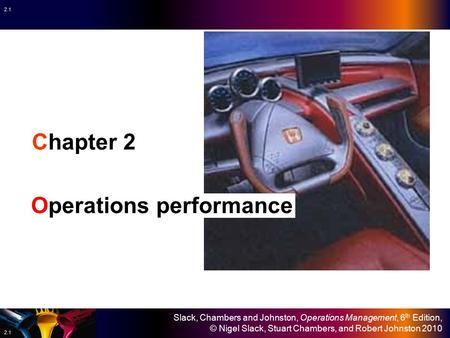 Chapter 2 Operations performance.