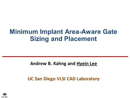 Minimum Implant Area-Aware Gate Sizing and Placement
