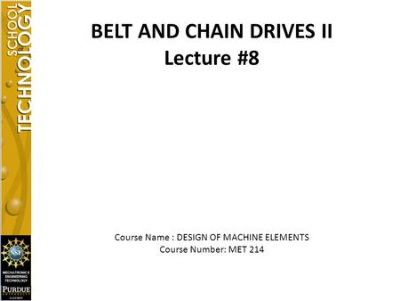 BELT AND CHAIN DRIVES II