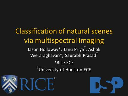 Classification of natural scenes via multispectral Imaging.