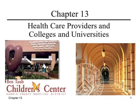 Chapter 131 Health Care Providers and Colleges and Universities.
