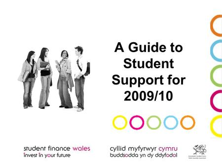 A Guide to Student Support for 2009/10. What's in this presentation? The Student Support available The Application Process The Assessment Procedure Loan.