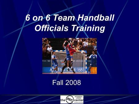 6 on 6 Team Handball Officials Training