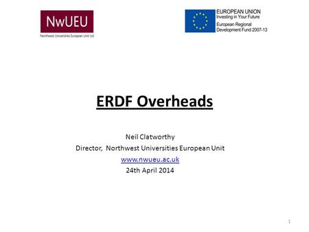 Director, Northwest Universities European Unit