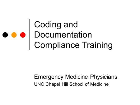 Coding and Documentation Compliance Training