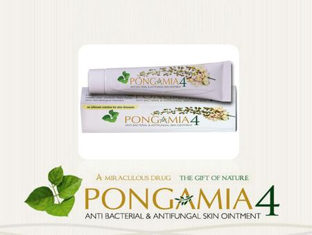 1.PONGAMIA 4 prevents the process of bio-degradation of skin. 2.PONGAMIA 4 will regulate the blood circulation in the affected areas,