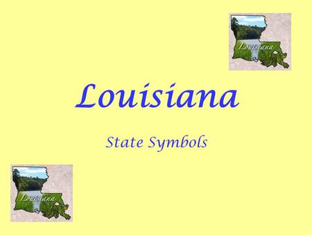 Louisiana State Symbols. Background Information Louisiana's State Symbols are determined by the Louisiana State Legislature on suggestions by the public.