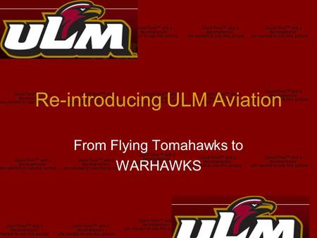 Re-introducing ULM Aviation From Flying Tomahawks to WARHAWKS.