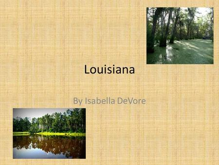 Louisiana By Isabella DeVore. Baton Rouge This city is the state capital. Their state nickname is the Pelican State!!!