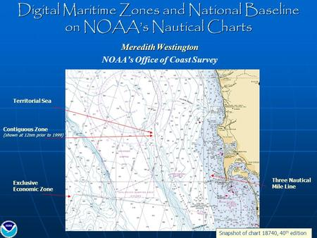 Digital Maritime Zones and National Baseline on NOAA's Nautical Charts