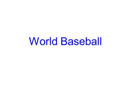 World Baseball. Invention Of Baseball The first recorded contest of baseball took place in 1846. Alexander Cartwright and his Knickerbockers, a club of.