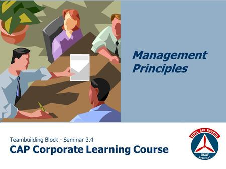 Teambuilding Block - Seminar 3.4 CAP Corporate Learning Course