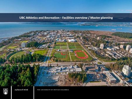 UBC Athletics and Recreation – Facilities overview / Master planning.