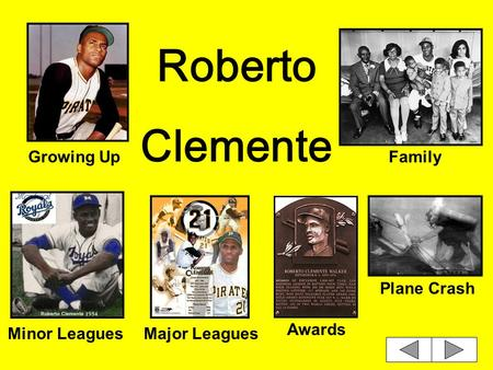 Roberto Clemente Growing UpFamily Minor LeaguesMajor Leagues Awards Plane Crash.