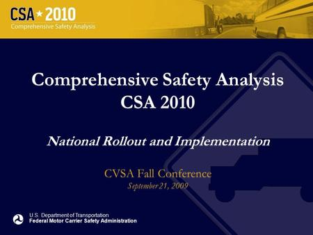 Fmcsa analysis divisiondata quality program august 2005 for Us department of transportation federal motor carrier safety administration